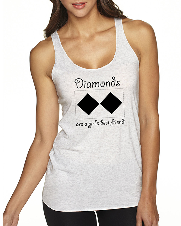 Women's Tri-blend racer-back Diamonds are a Girls Best Friend tank top (More Colors Available)