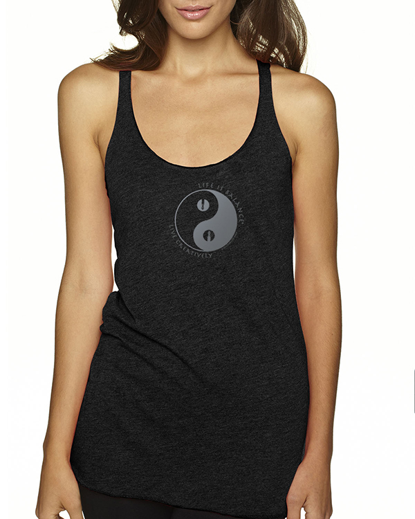 Women's Tri-blend racer-back writer tank top (More Colors Available)