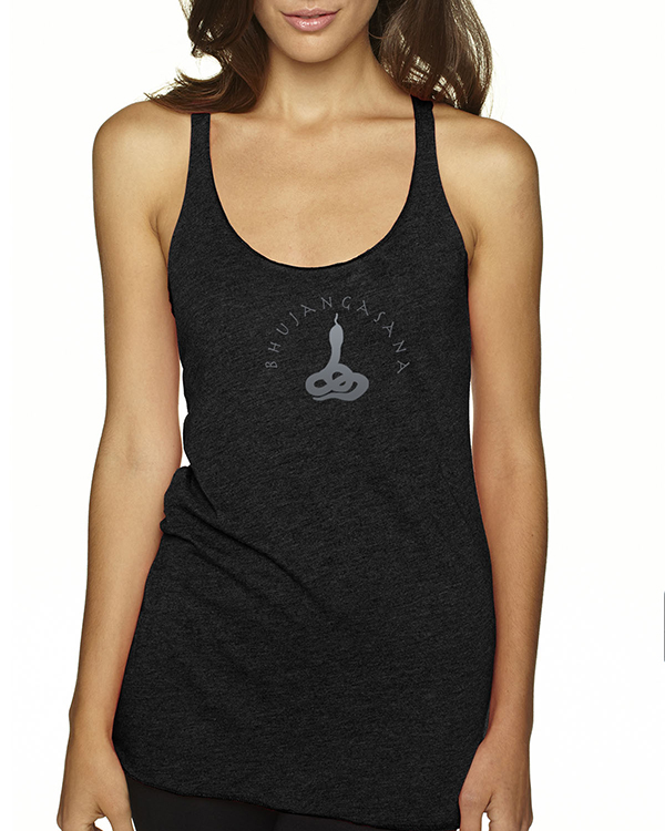 Women's Tri-blend racer-back cobra yoga tank top (More Colors Available)