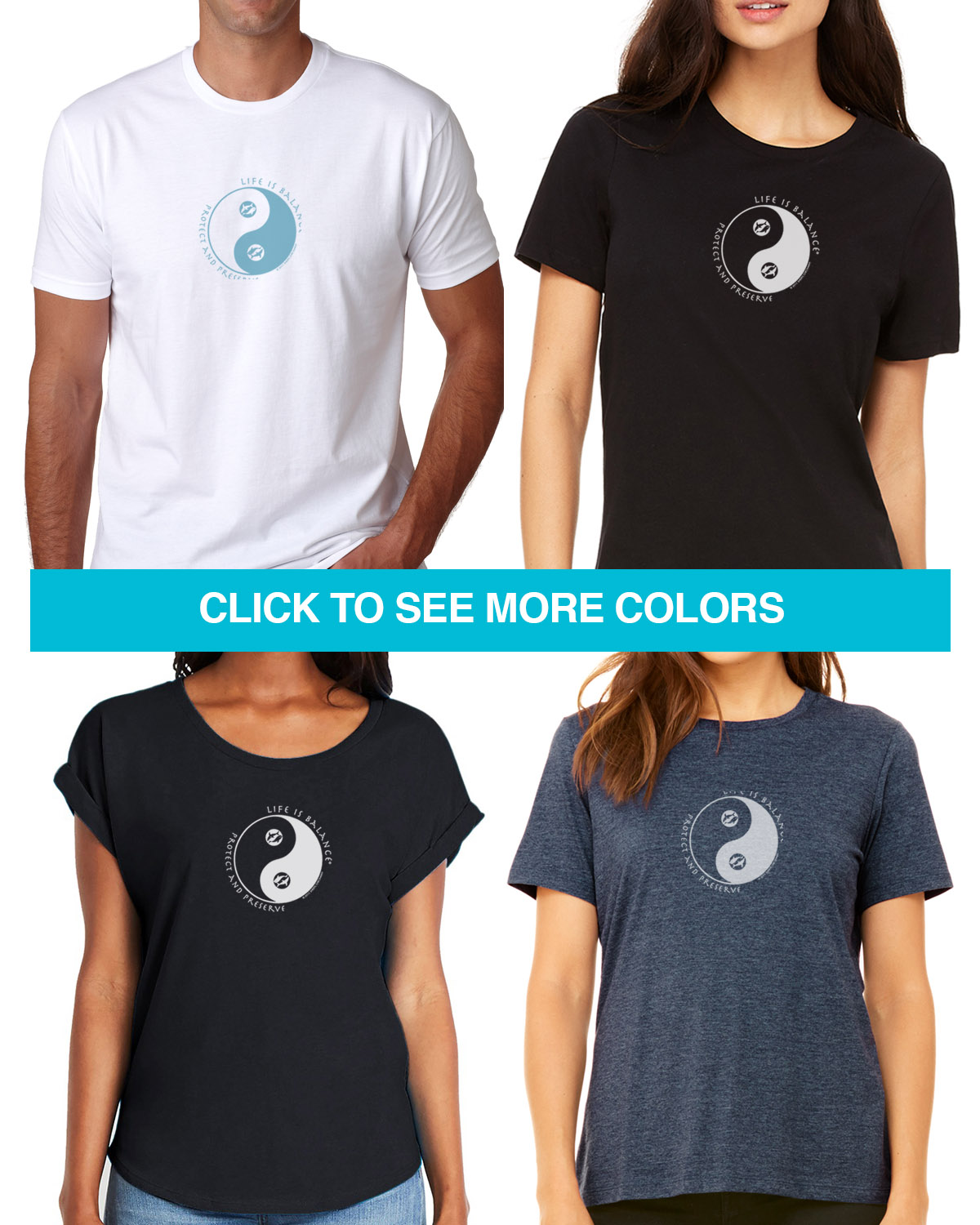 Ocean conservation T-shirts for men and women