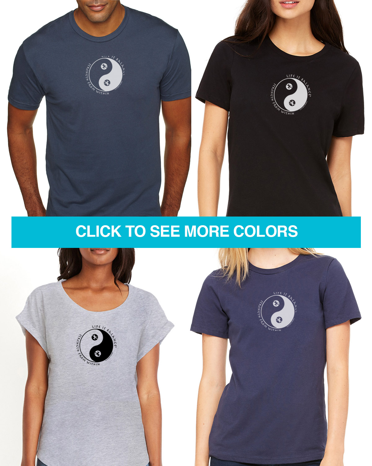 Tai Chi Tees for Men & Women