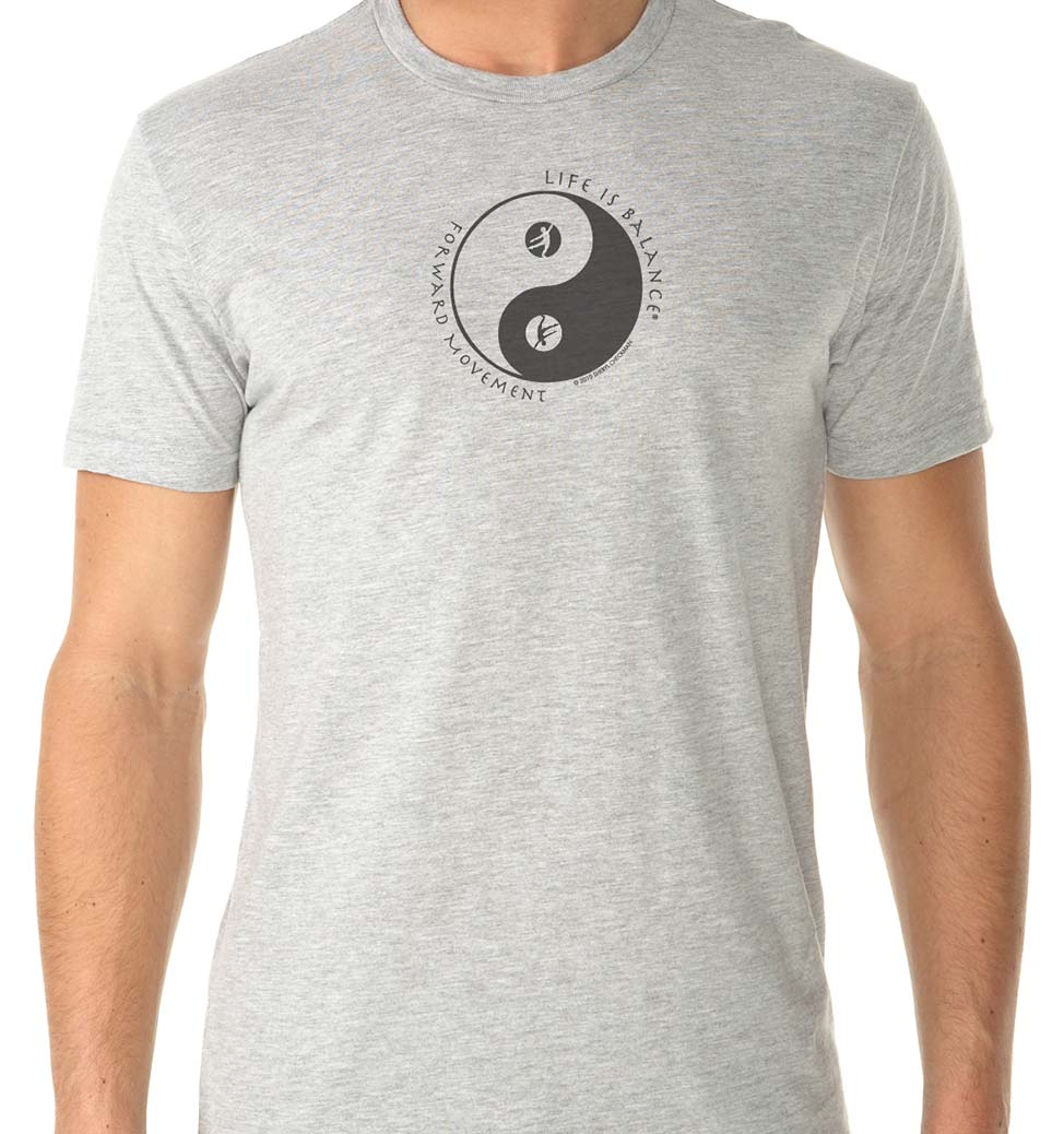 Forward Movement Men's/Unisex Dance T-shirt (heather gray)