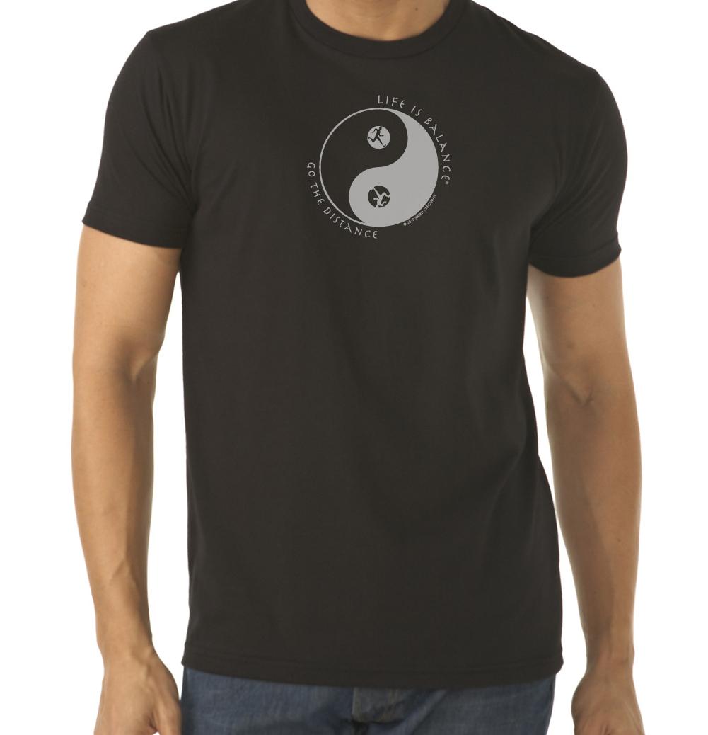Men's short sleeve running or jogging t-shirt (black)
