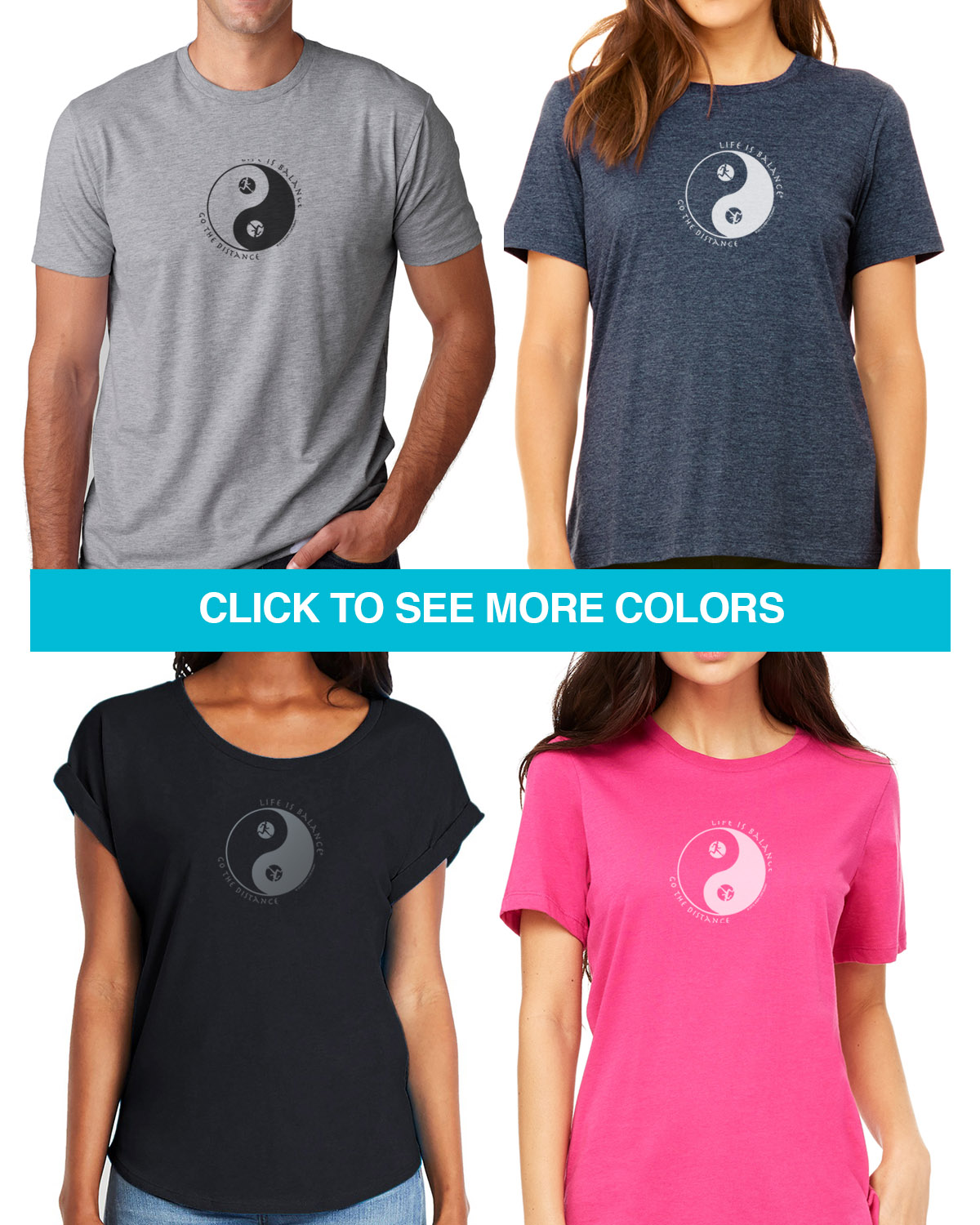 Short sleeve running/jogging t-shirts for Men and Women. Women's fitted styles and a unisex style for men or for women