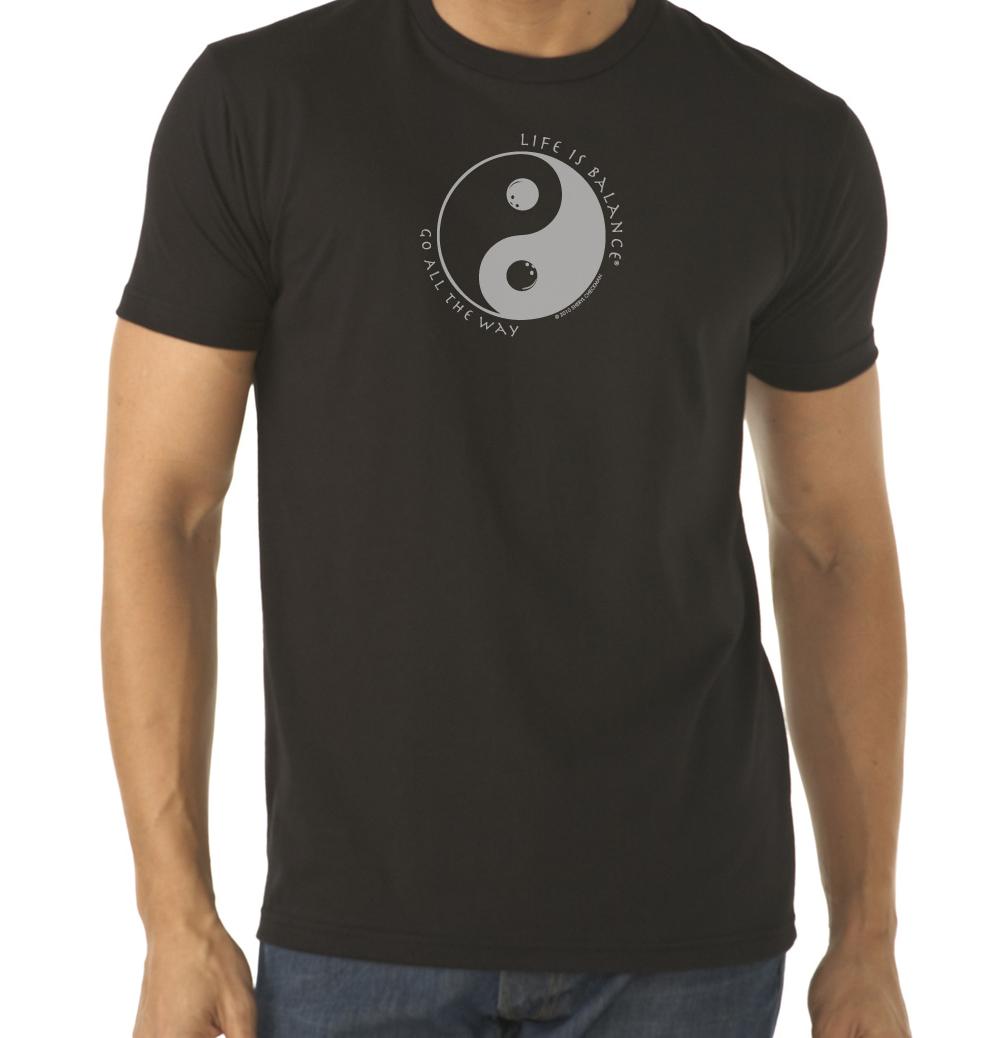 Men's short sleeve bowling t-shirt (black)