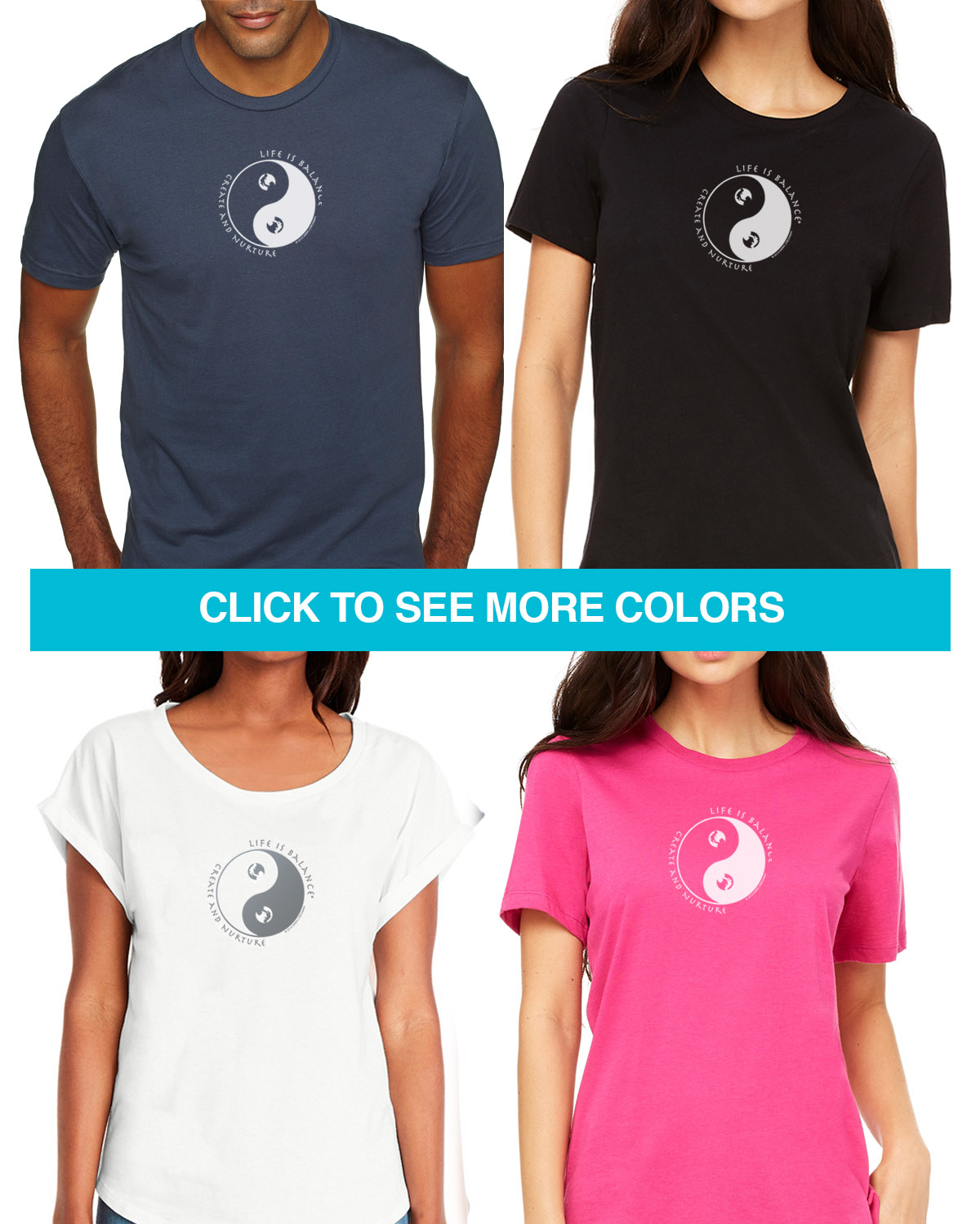 Parenting short sleeve T-shirts for Men and Women. Women's fitted styles and a unisex style for men and women