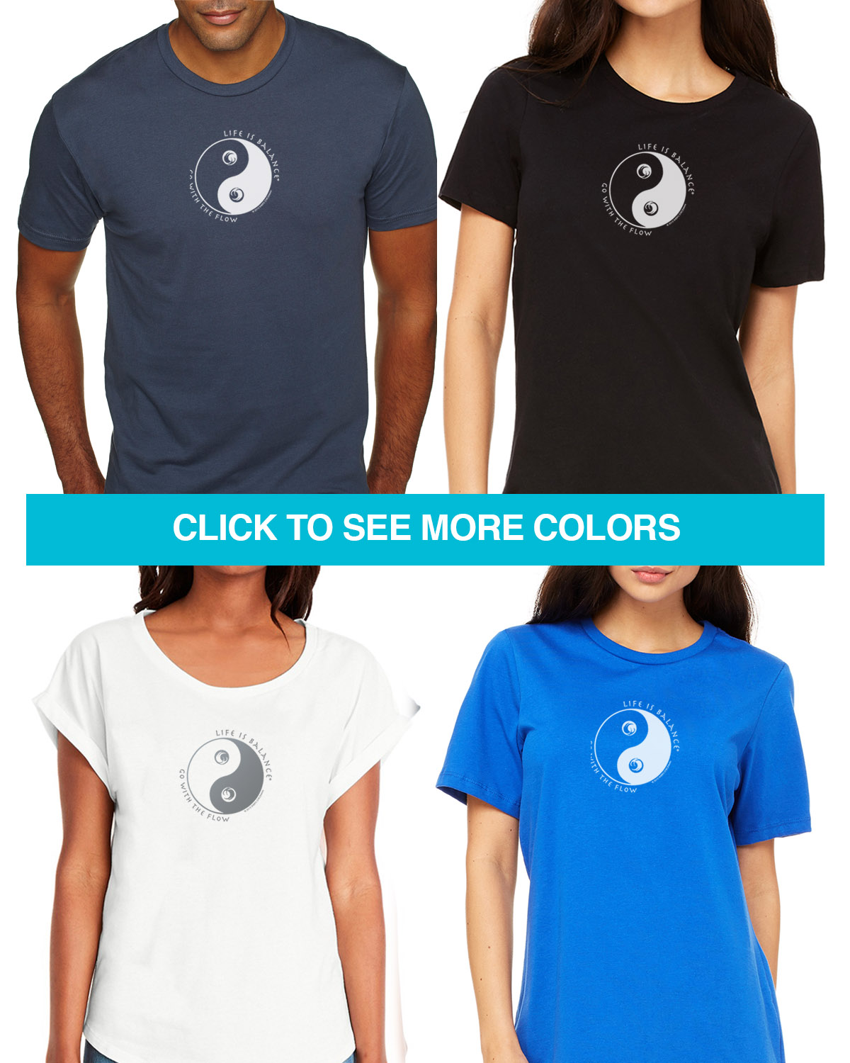 Ocean short sleeve T-shirts for Men and Women. Women's fitted styles and a unisex style for men and women