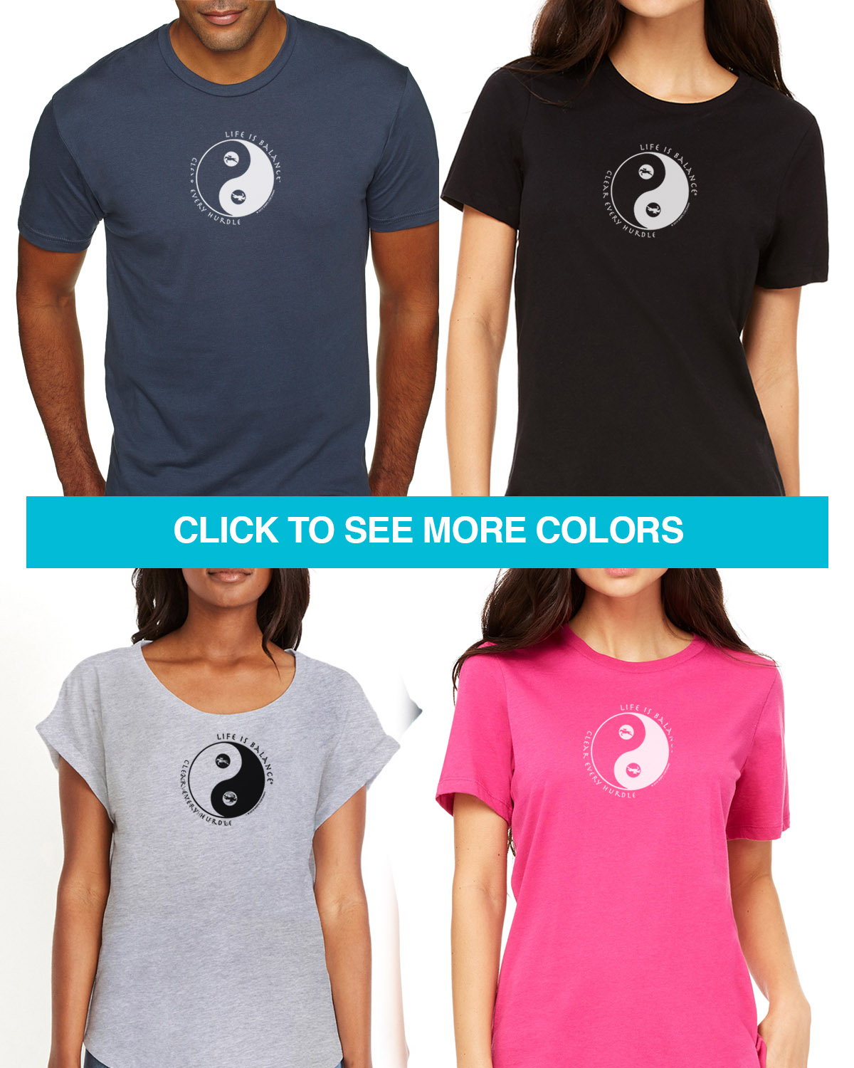 Equestrian short sleeve T-shirts for Men and Women. Women's fitted styles and a unisex style for men and women