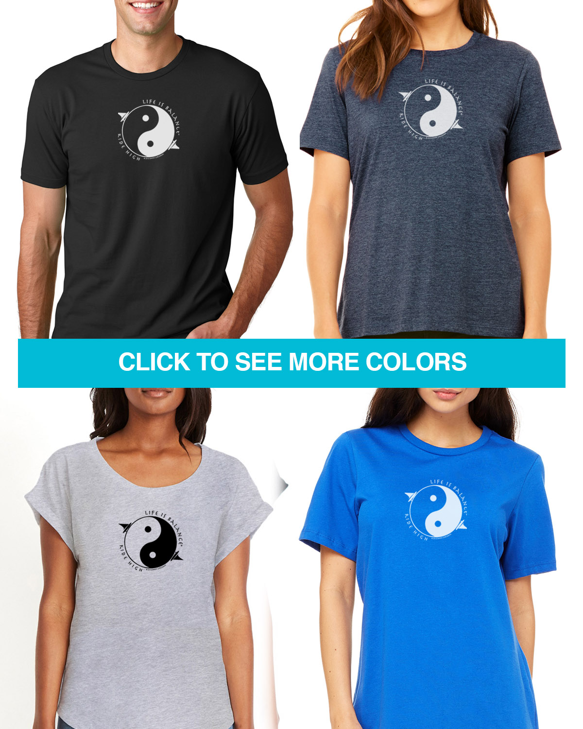 Short sleeve windsurfing t-shirts for Men and Women.