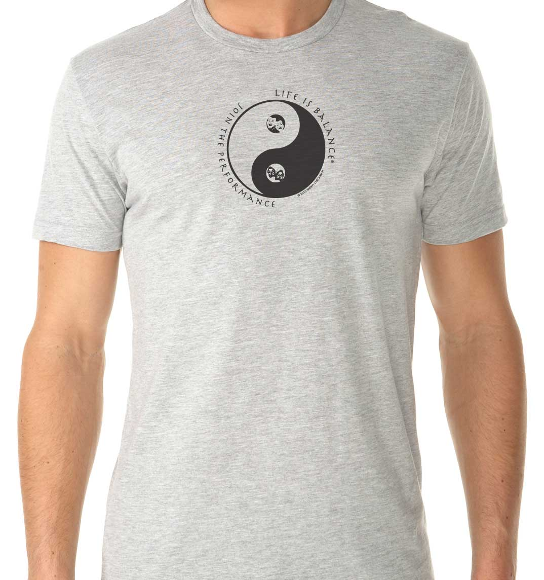 Men's short sleeve theater t-shirt (heather gray)