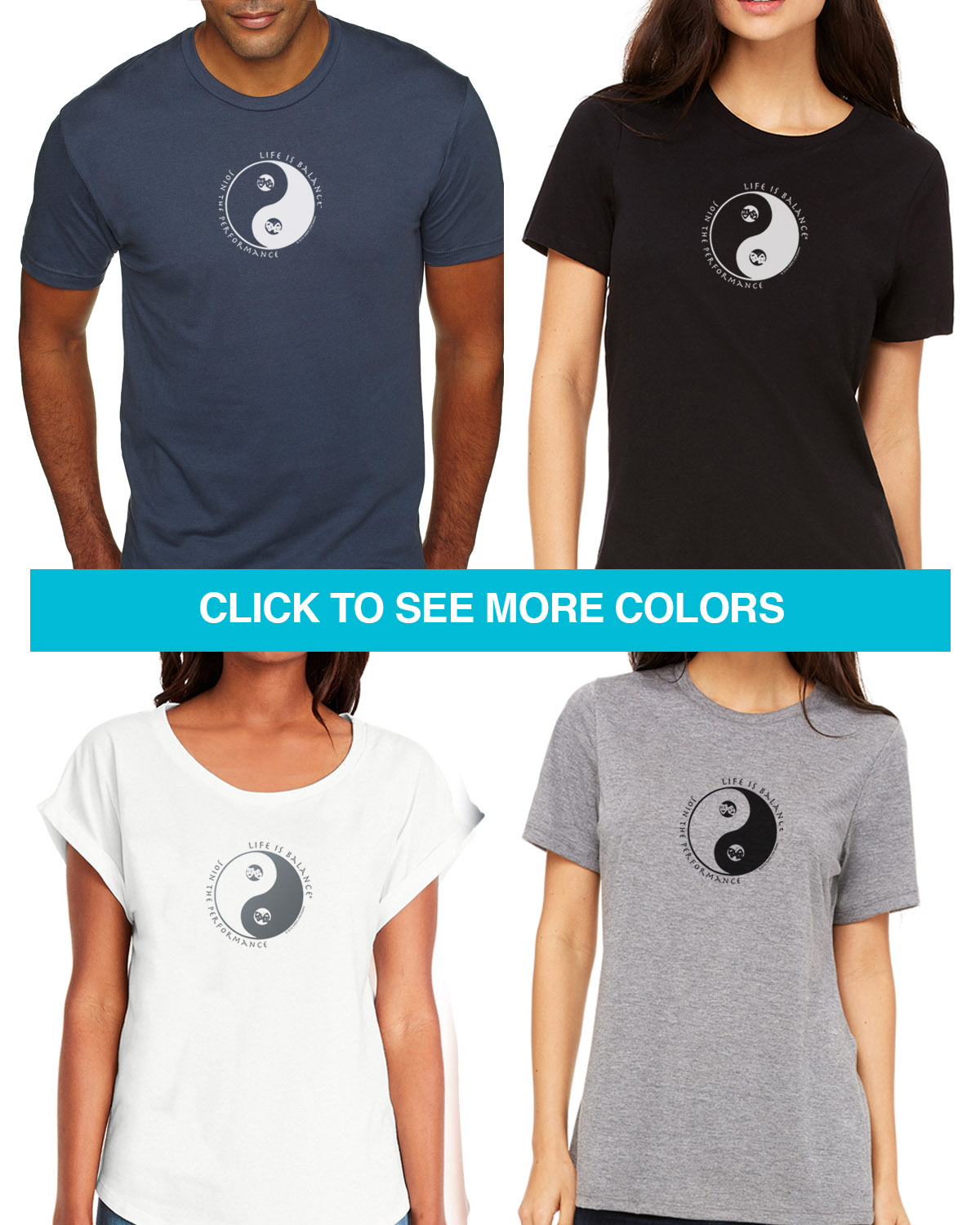Theater lovers short sleeve T-shirts for Men and Women. Women's fitted styles and a unisex style for men or for women