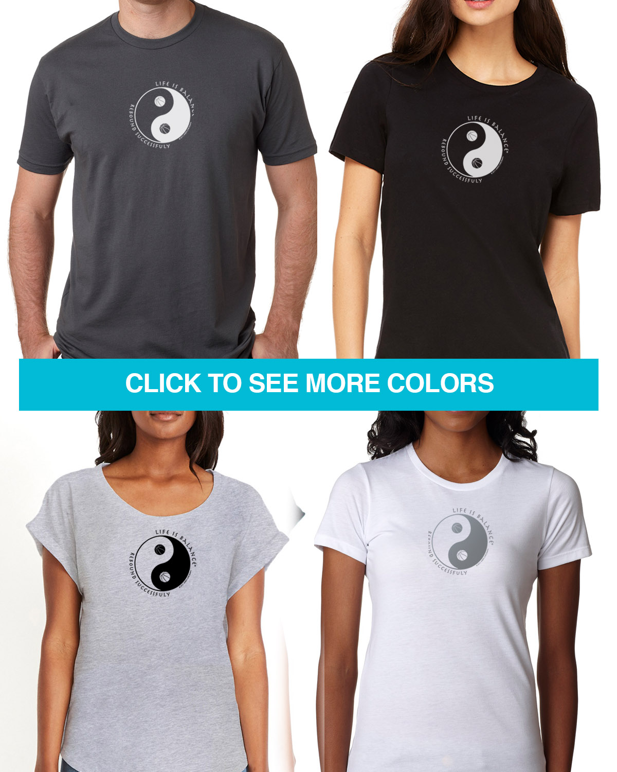 Short sleeve basketball t-shirts for Men and Women. Women's fitted styles and a unisex style for men and women .