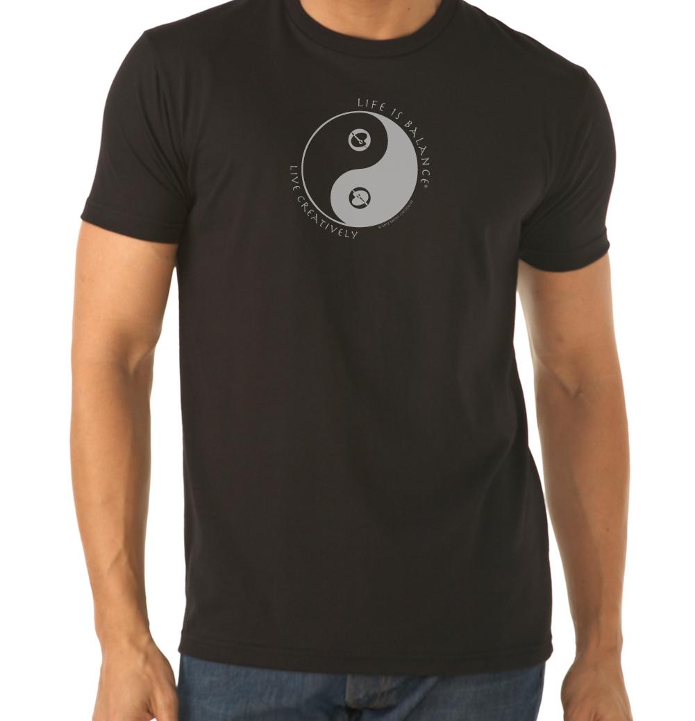 Men's short sleeve t-shirt in black