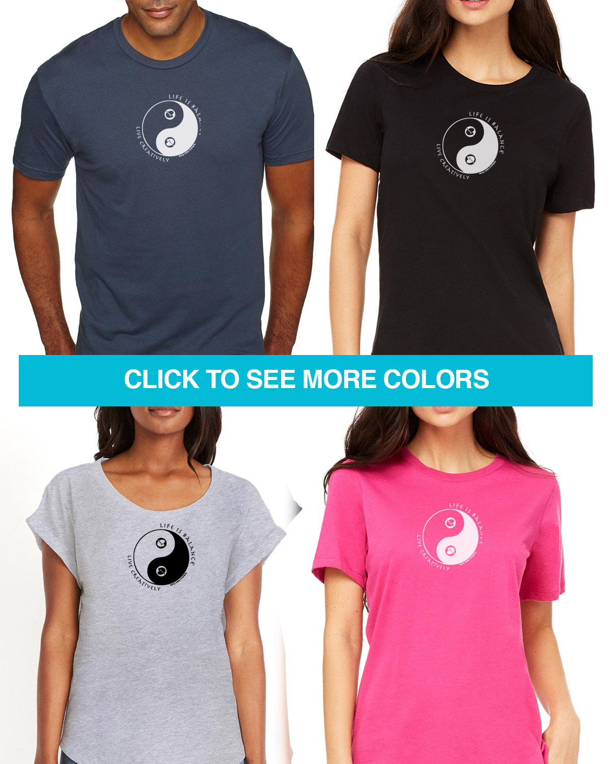 Short sleeve artist t-shirts for men and women