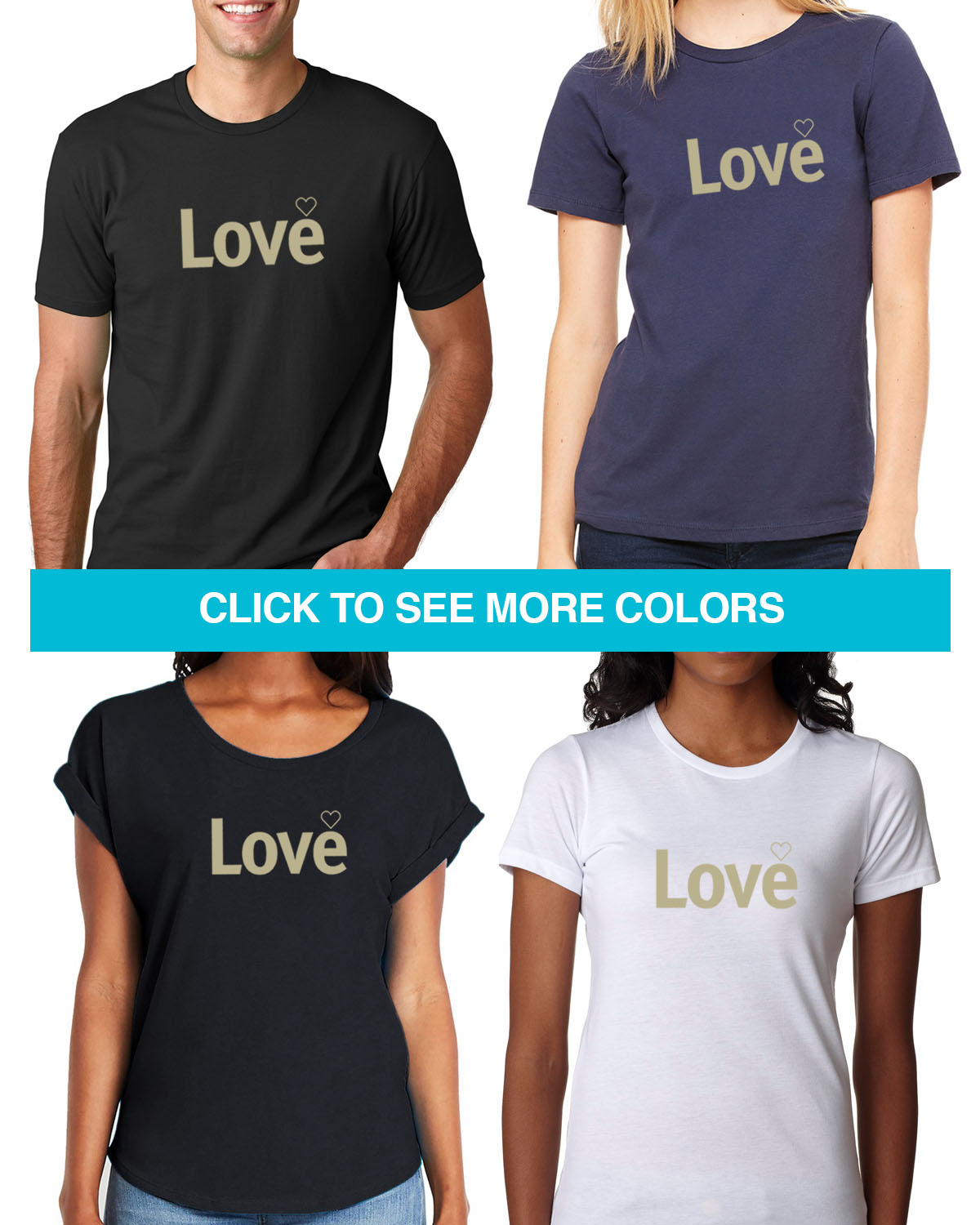 Inspiring word -Love T-shirt for men and women
