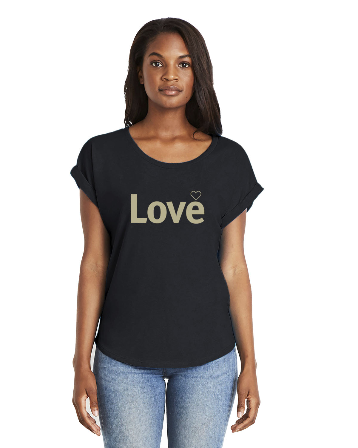 Love Dolman Sleeve T-shirt for women (black)