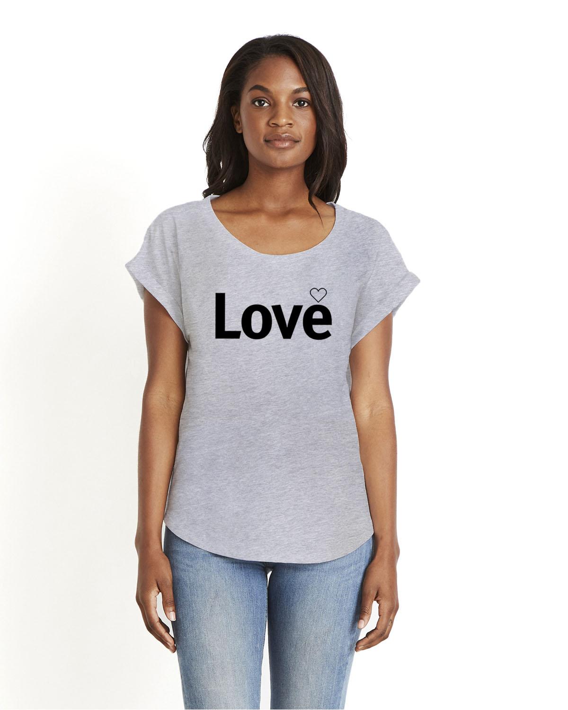 Love Dolman Sleeve T-shirt for women (gray)