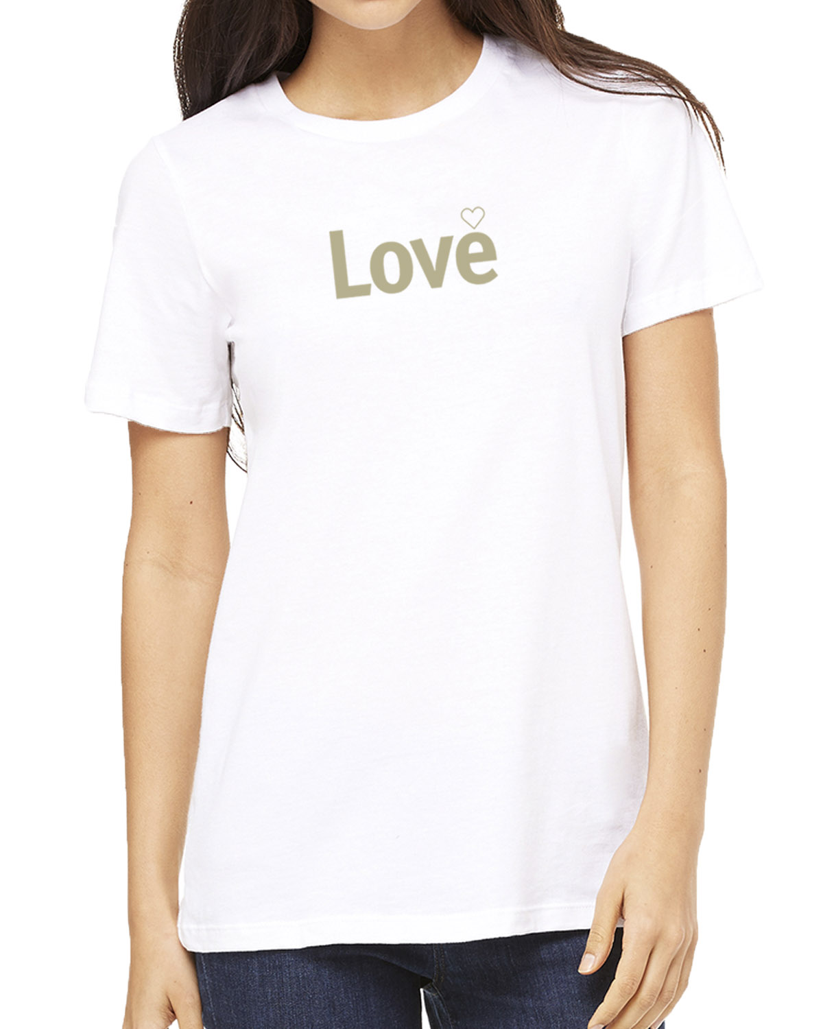 Short sleeve Love T-shirt for women (white)