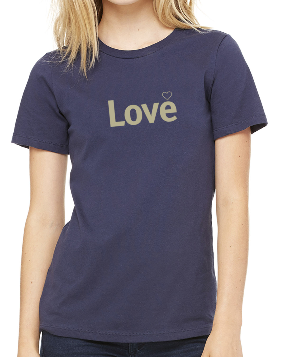 Short sleeve Love T-shirt for women (indigo)