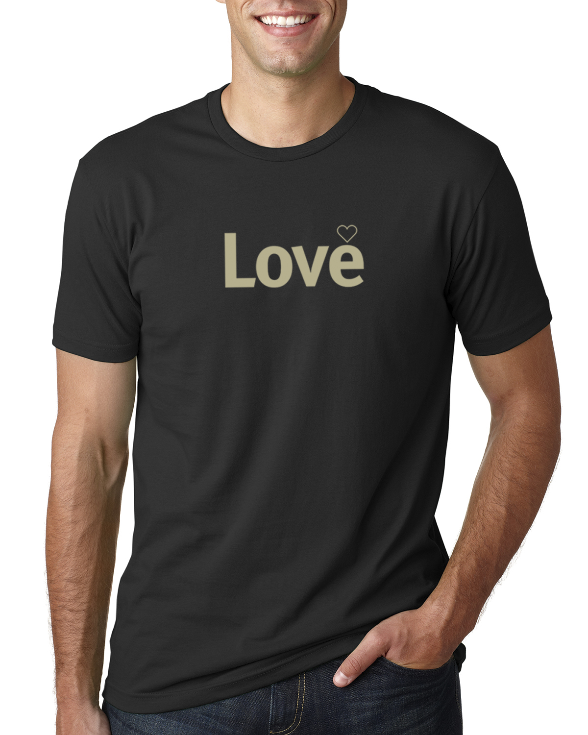 Short sleeve Love T-shirt for men (black)