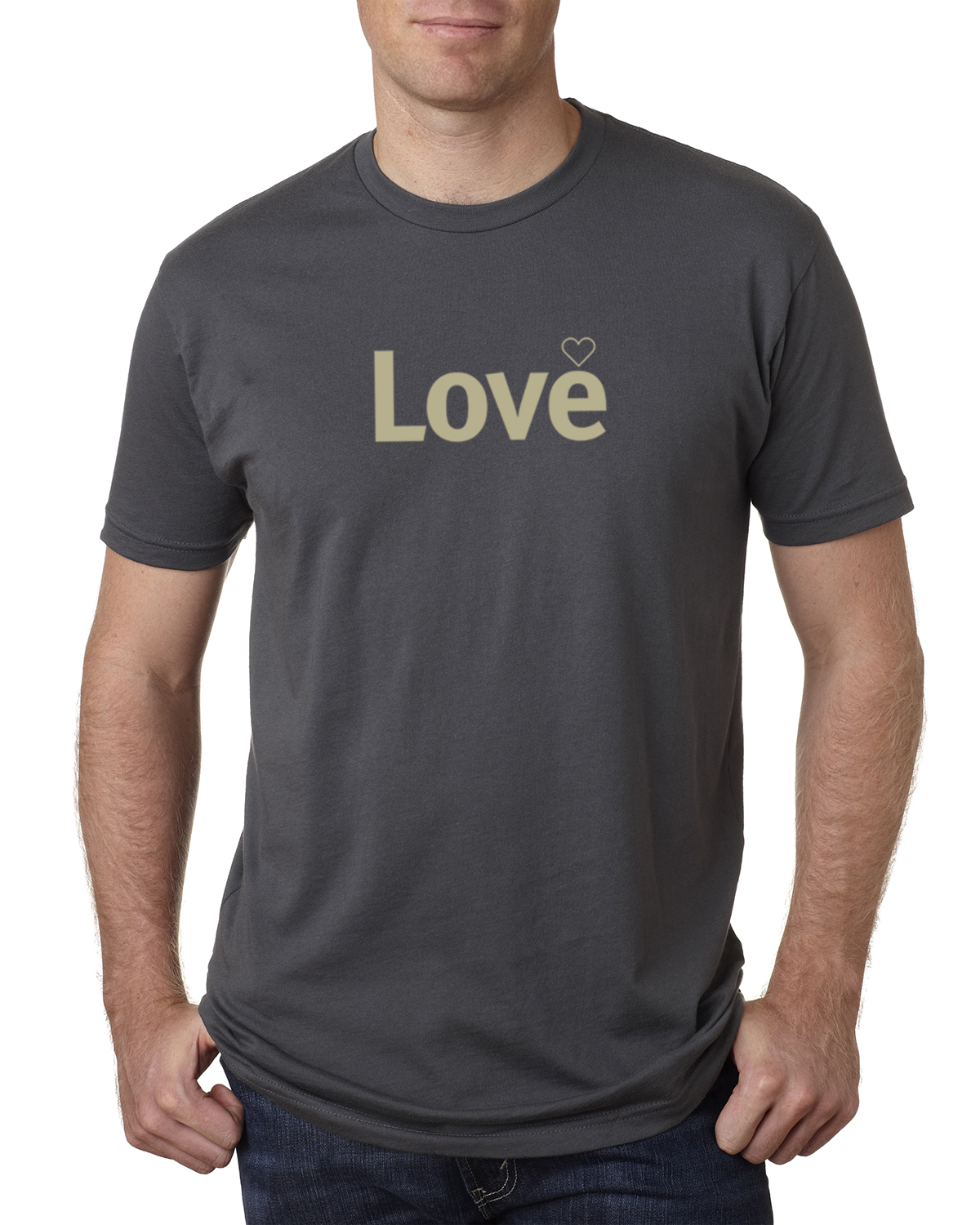 Short sleeve Love T-shirt for men (heavy metal)