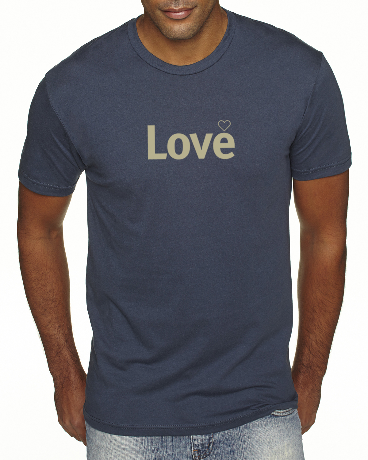 Short sleeve Love T-shirt for men (indigo)