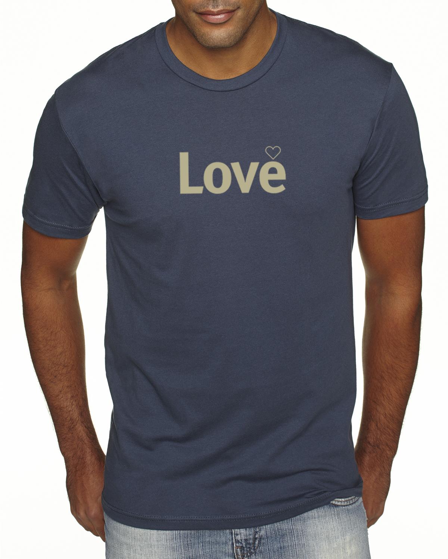 Short sleeve Love T-shirt for men (indigo)