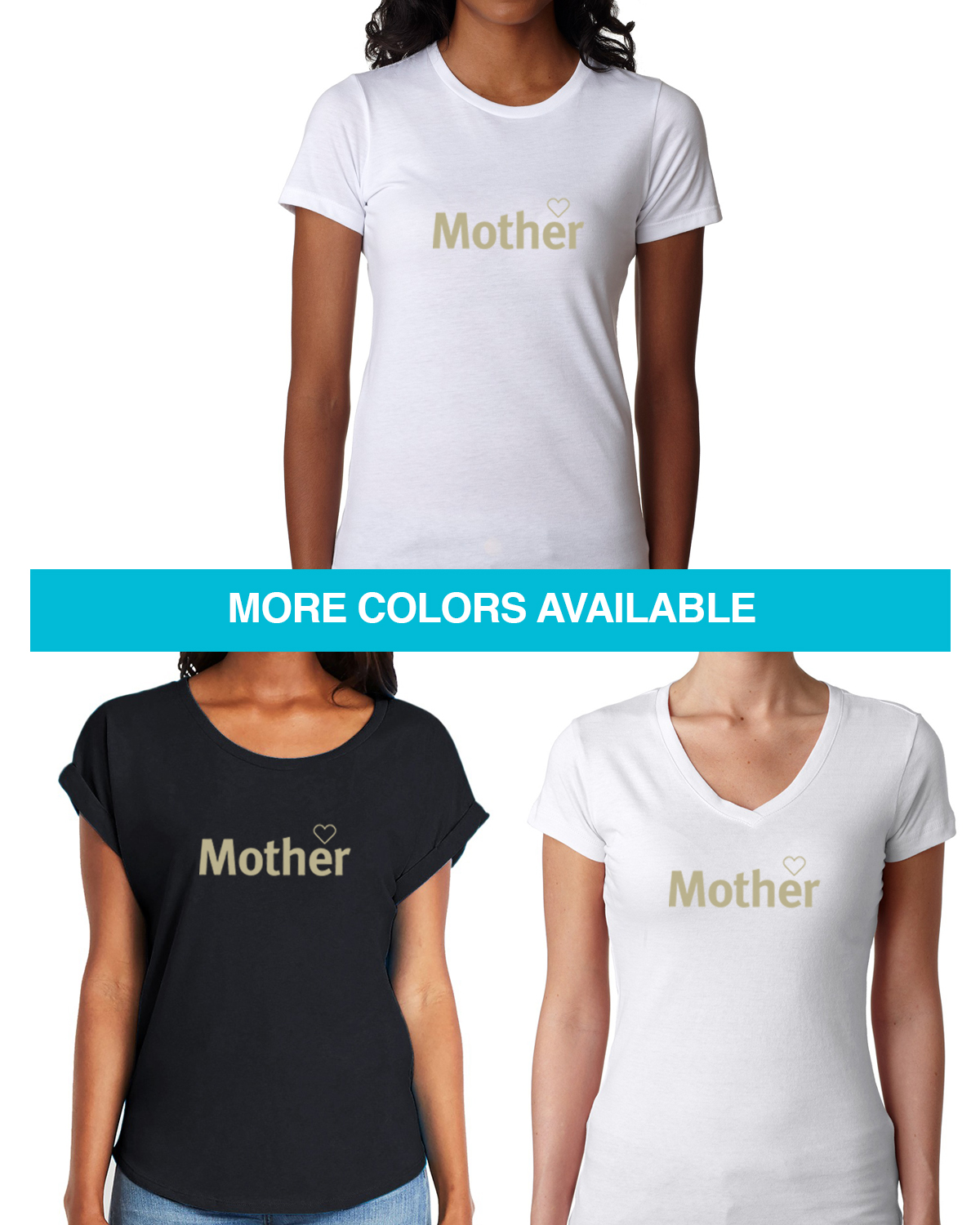 Women's Shirt sleeve mother or motherhood t-shirt