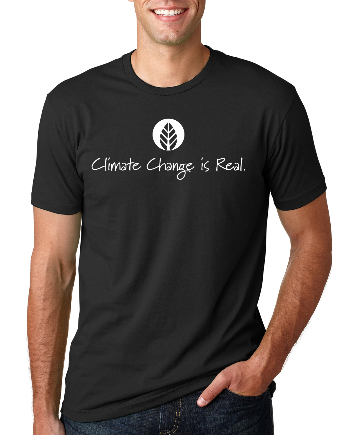 Men's short sleeve Climate Change is Real (black)