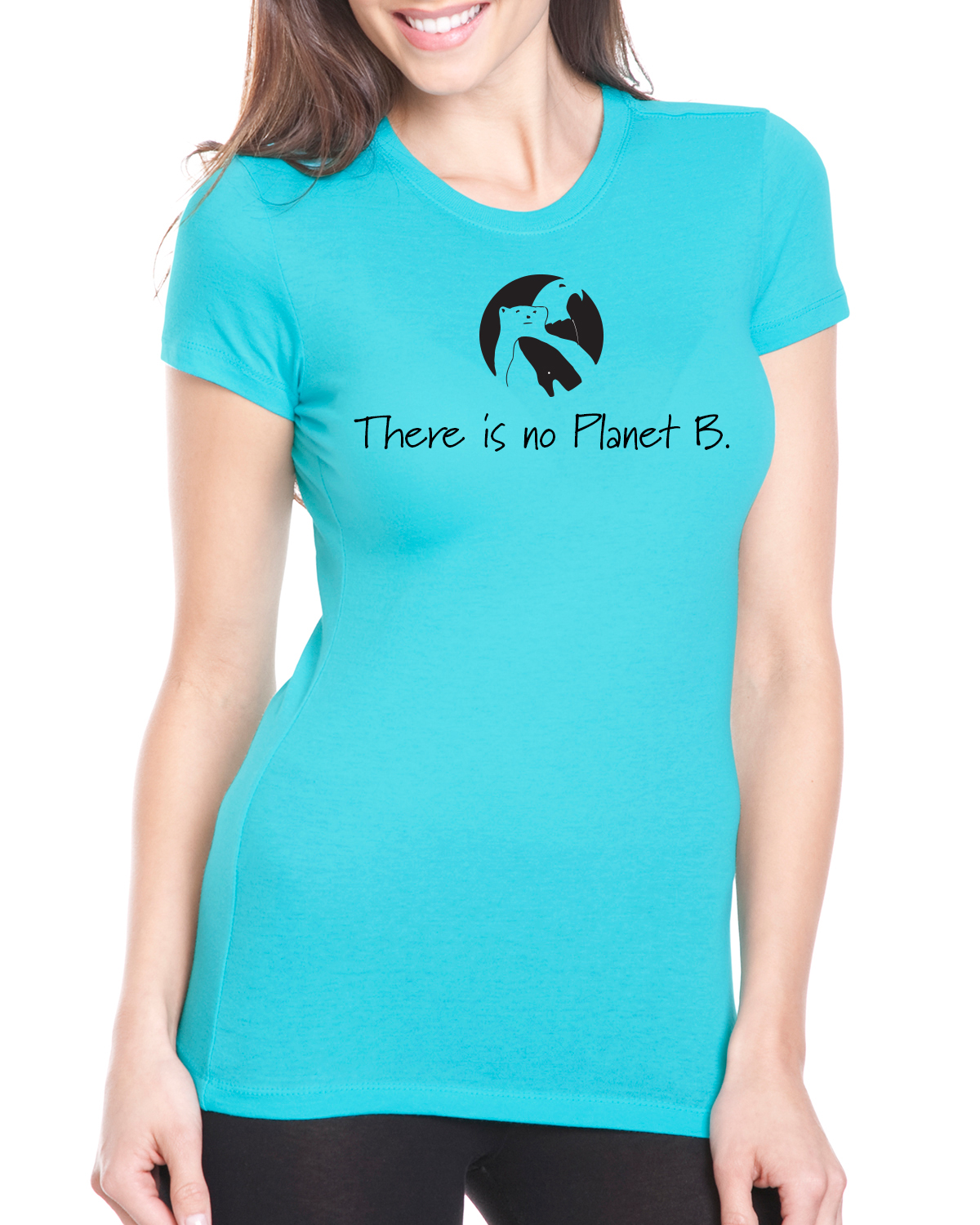 There is No Planet B Short sleeve t-shirt for women (Tahiti Blue)