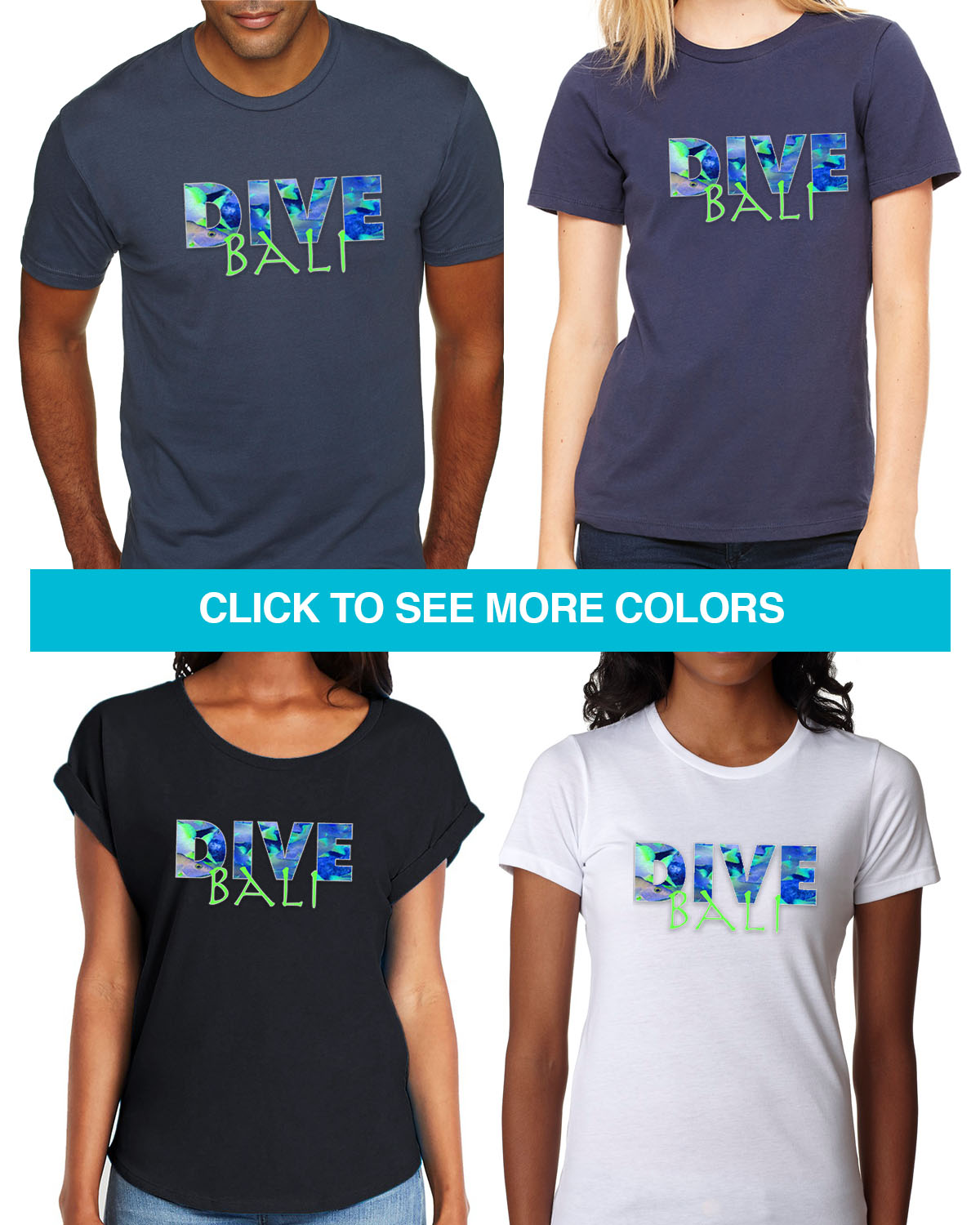 Men's short sleeve DIVE Bali t-shirt (black)