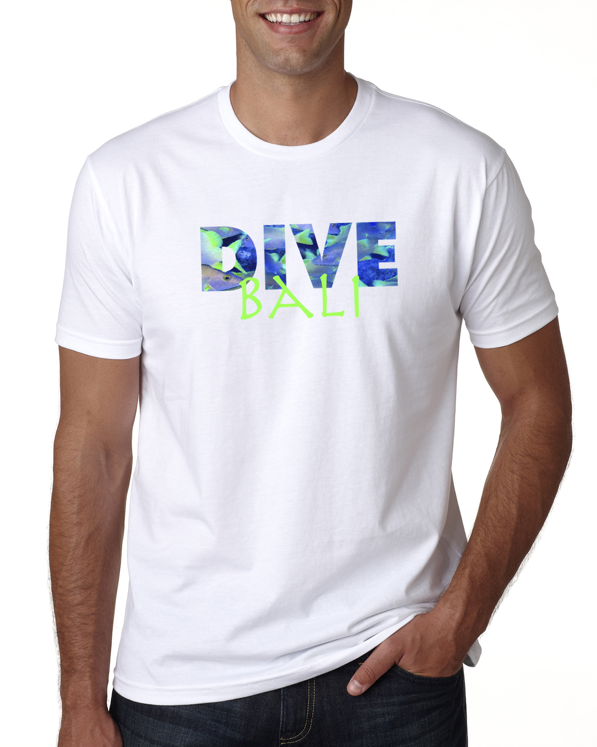Men's short sleeve DIVE Bali t-shirt (white)