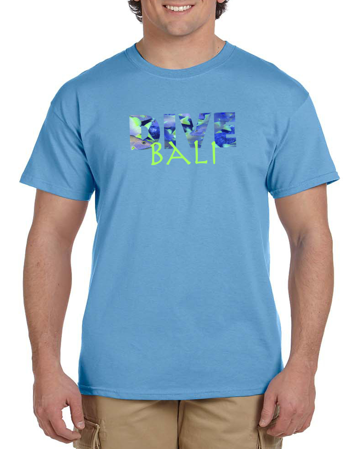 Men's short sleeve DIVE Bali t-shirt (carolina blue)