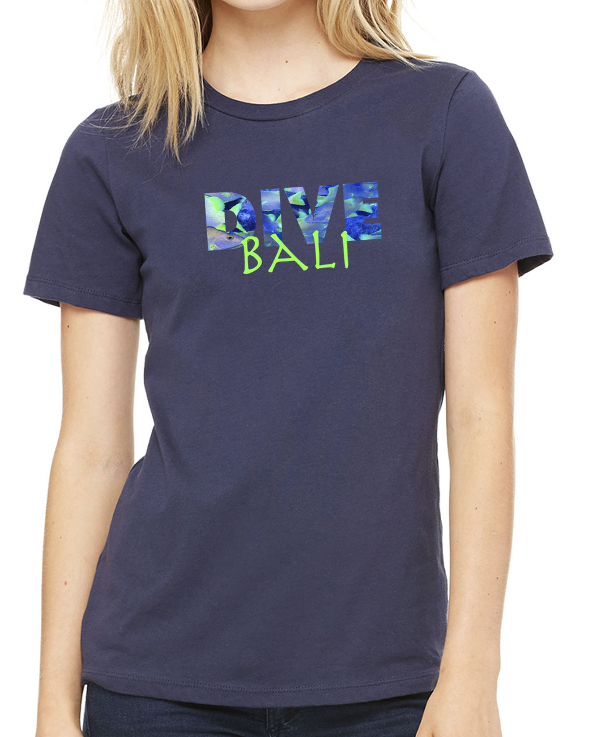 Women's short-sleeve DIVE Bali t-shirt (carolina blue)