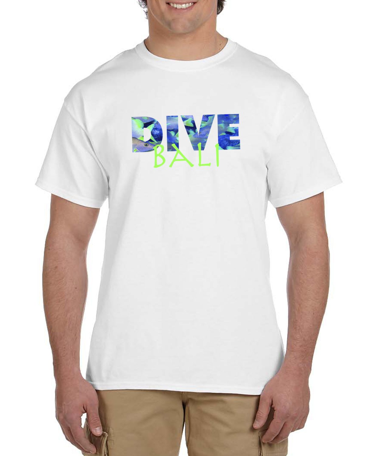 Men's DIVE Indonesia Short sleeve t-shirt (white)