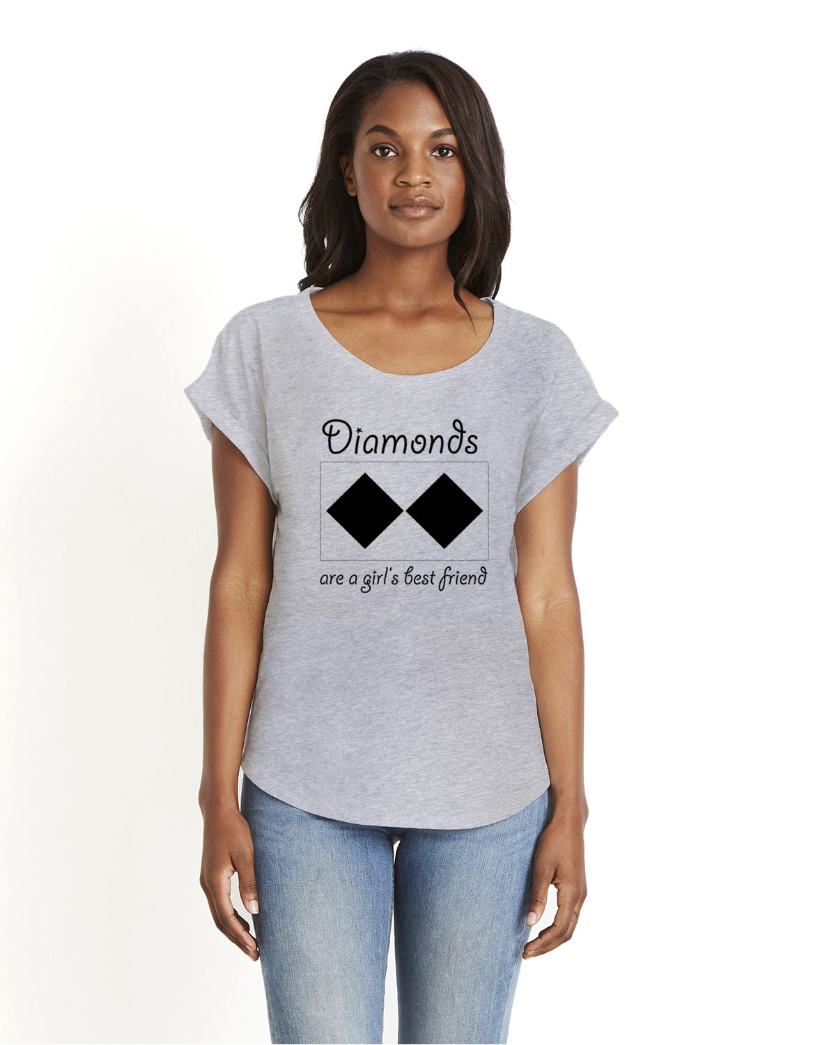 Women's Doleman Sleeve Diamonds Ski T-shirt (gray)