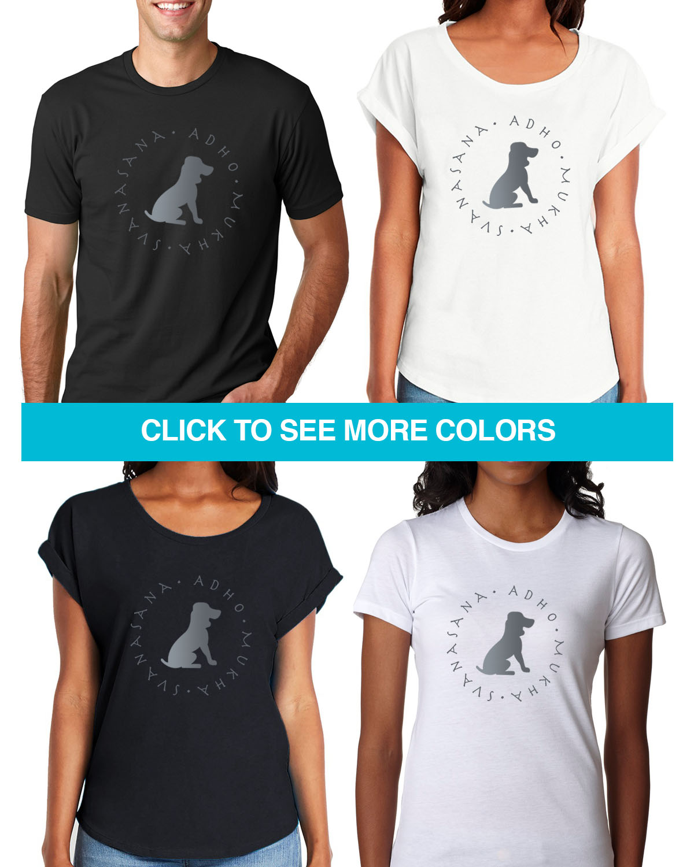 Dog Walker Men Women Unisex V-Neck Cotton Short Sleeve Top Tee T-Shirt
