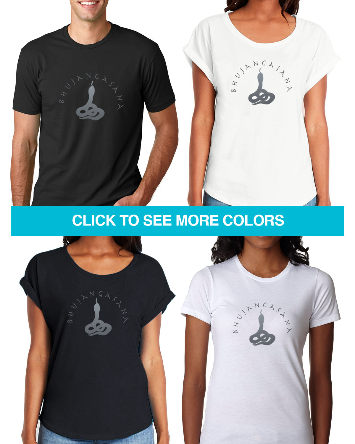 Cobra Yoga Tees for Men & Women