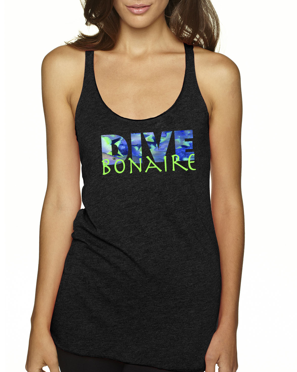 Racer-Back DIVE Bonaire Tank Top (Vintage Black)