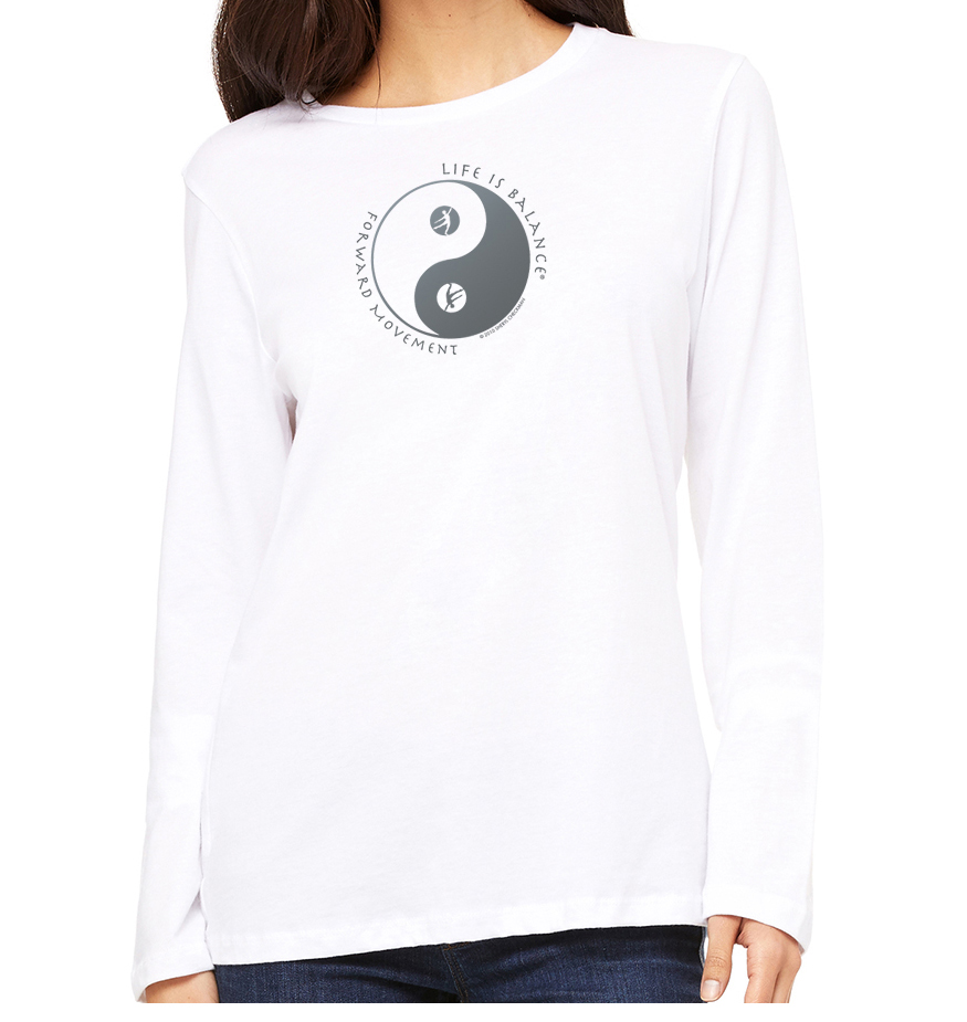 Women's long sleeve dance t-shirt (black)