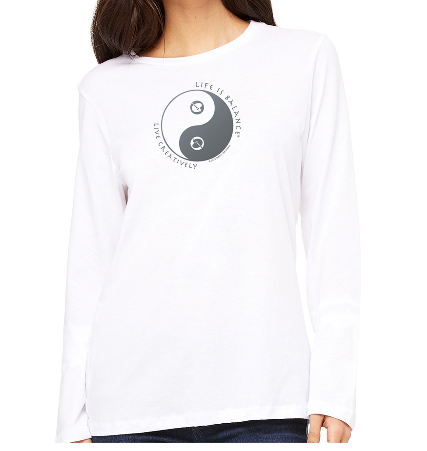 Women's Creative Artist Long Sleeve T-Shirt (white)