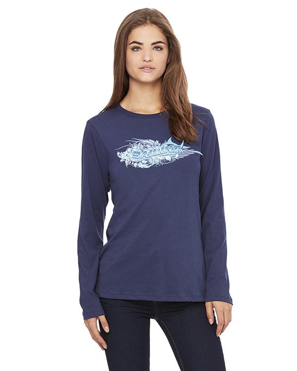 Women's Long Sleeve Sailing ' its a way of Life T-Shirt (Navy)