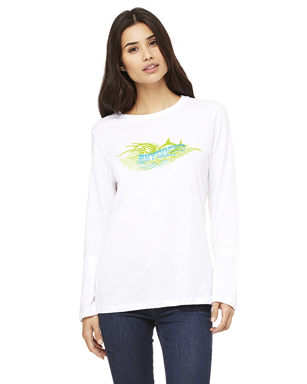 Women's Long Sleeve Skydiving ' its a way of Life T-Shirt (White)