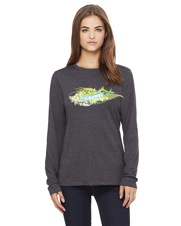 Women's Long Sleeve Skydiving ' its a way of Life T-Shirt (Gray)