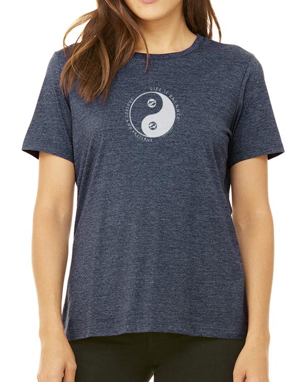 Women's short sleeve t-shirt (Heather Navy)