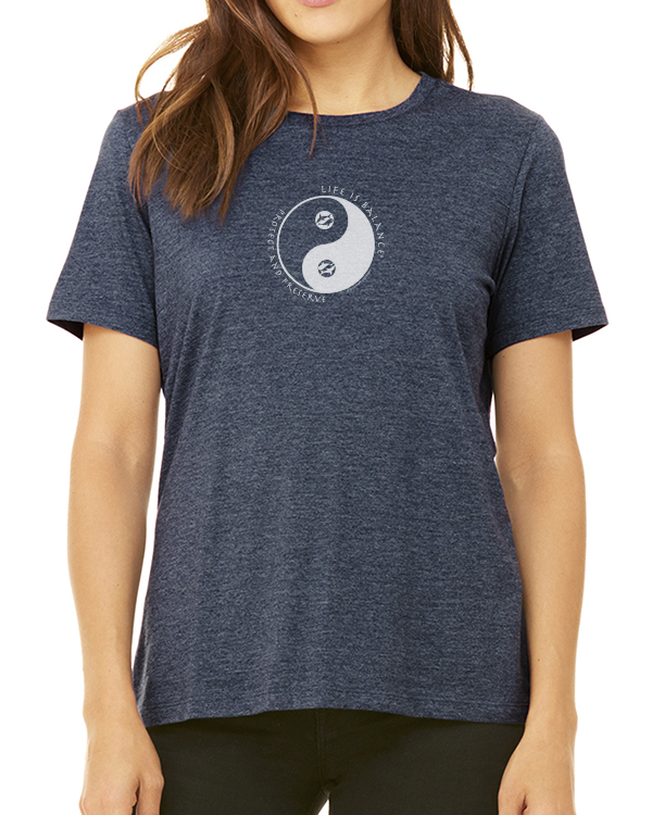 Women's short sleeve t-shirt (Heather Navy)