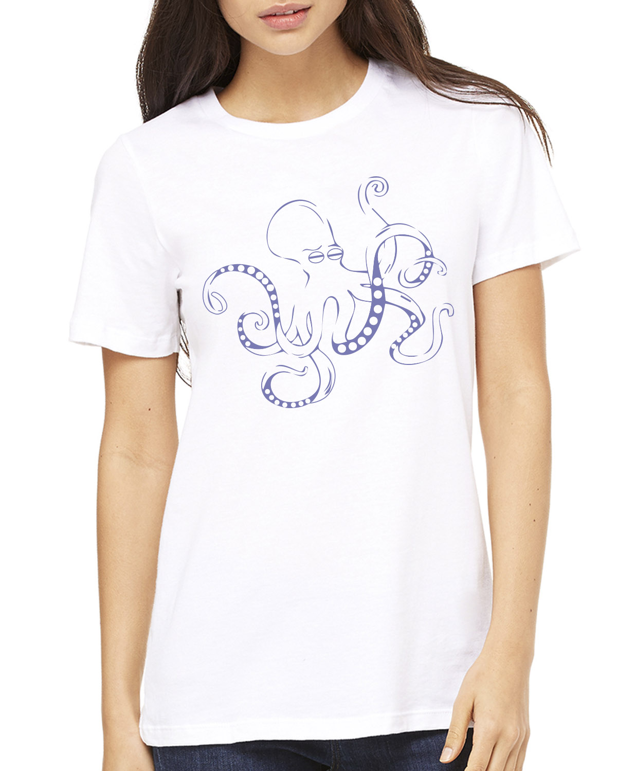Women's Short sleeve crew neck t-shirt (White)