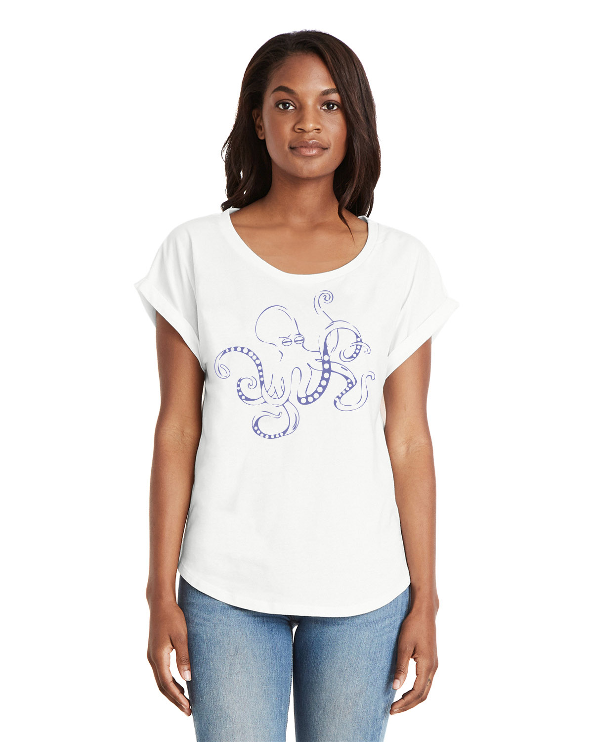 Women's Dolman Sleeve t-shirt (White)