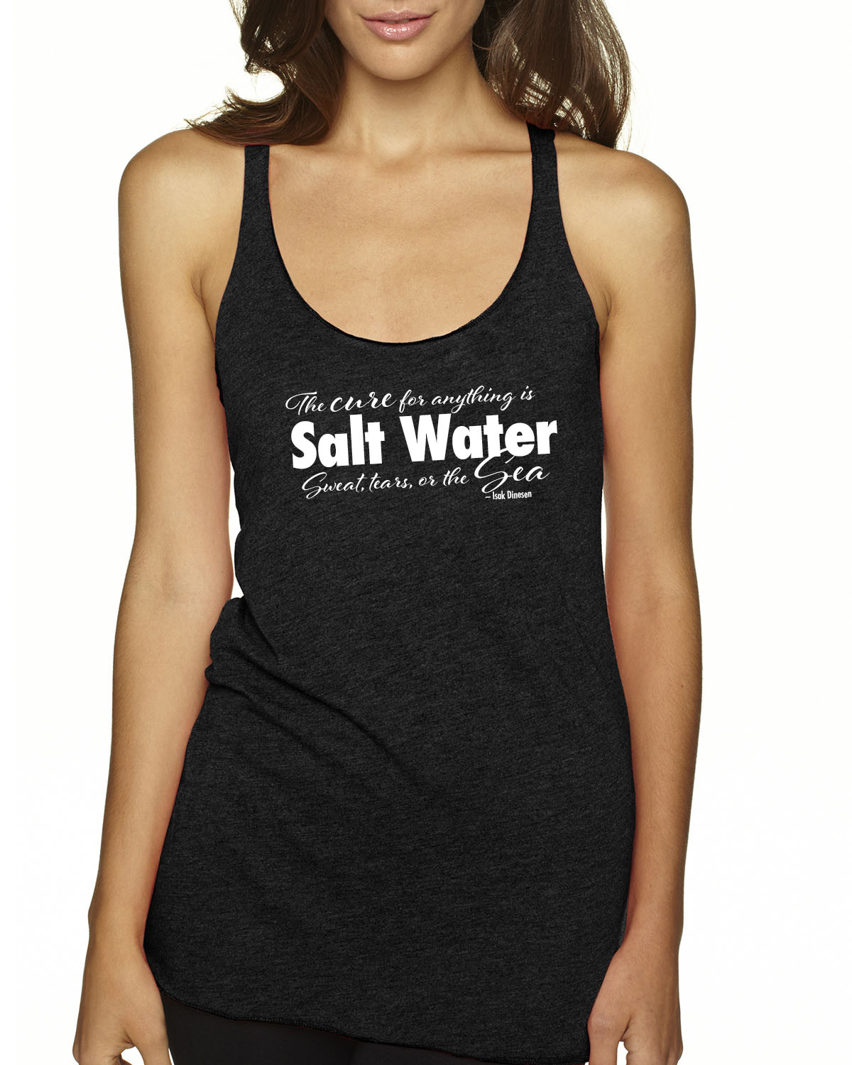 Cure for Anything Tr-blend racer-back tank (black)