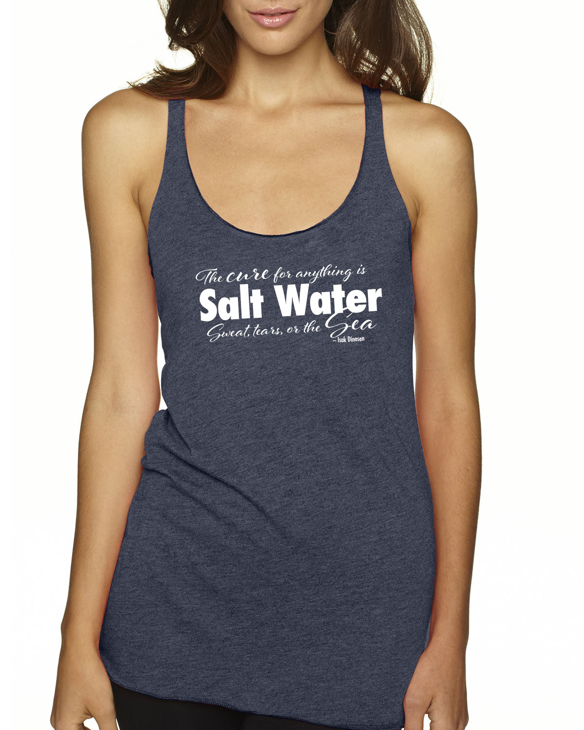 Cure for Anything Tr-blend racer-back tank (Indigo)